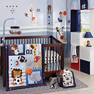 Lambs & Ivy Future All-Star 4Piece Baby Crib Bedding Set