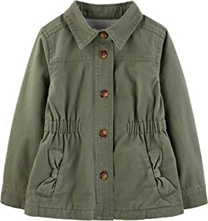Baby and Toddler Girls' Twill Button up Jacket