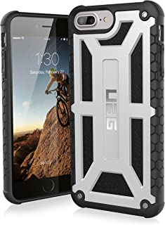 URBAN ARMOR GEAR UAG iPhone 8 Plus/iPhone 7 Plus/iPhone 6s Plus [5.5-inch Screen] Monarch Feather-Light Rugged [Platinum] Military Drop Tested iPhone Case