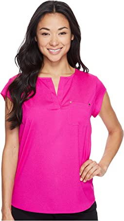 Ivanka Trump Cap Sleeve Pocket Woven Top
