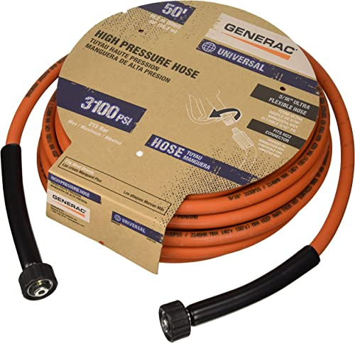 popular Generac outlet online sale 6620 Pressure Washer discount Hose, 50-Feet x 5/16-Inch, Orange sale