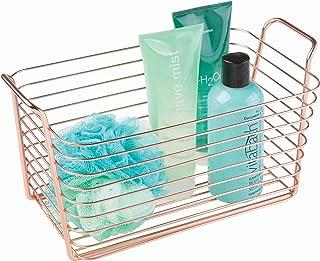 iDesign 93229EU Classico, Panier métallique, Rangement pour cuisine, salle de bains, placard, chambre, Moyen - Cuivre, Copper