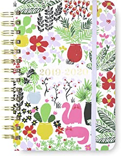 Kate Spade New York 17 Month Medium Hardcover 2019-2020 Daily Planner, Weekly and Monthly Planner with Stickers, Pocket Folder, and Tab Dividers, 7.5