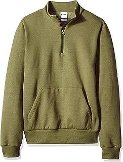 Soffe Men's Solid Mock Quarter Zip Sweatshirt,