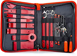 Fstop Labs 32 Pieces Auto Upholstery Trim and Molding Removal Tool Kit, Car Dash Panel Removal and Install Kit with Storage Bag