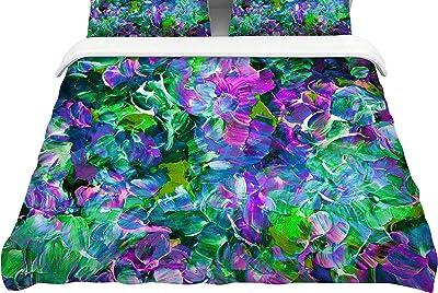 KESS InHouse Ebi Emporium Oh So Fancy Blue Purple Twin Comforter 68 X 88