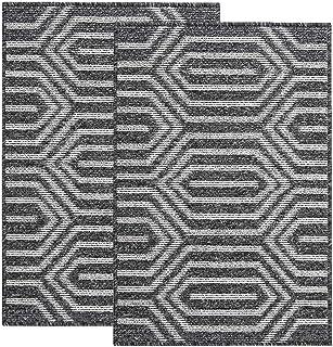 """Pauwer 24""""x36"""" Indoor Doormats Set of 2 Non Slip Front Back Door Mat Low Profile Entrance Rug Super Absorbent Inside Mud D..."""