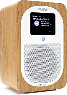 PURE 151110 Evoke H3 Portable DAB/DAB+ and FM Radio, with Bluetooth and Full Colour Display, Oak