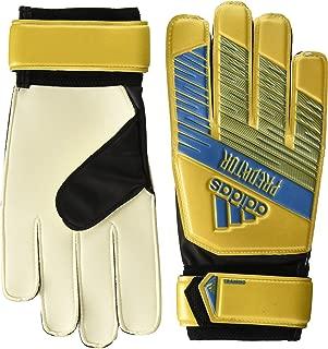 adidas Adult Predator Training Soccer Goalkeeper Gloves , Gold Metallic/Football Blue , 9