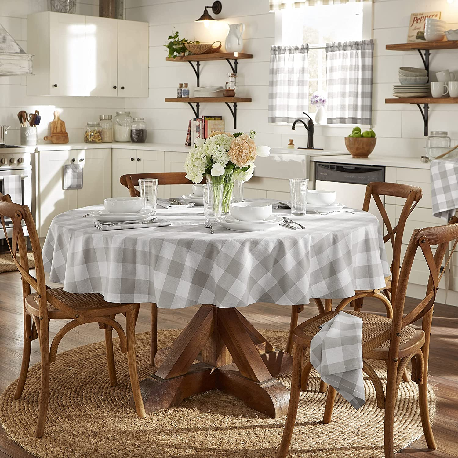 Elrene Home Now free shipping Fashions Farmhouse Buffalo Check Living Tablecloth Popular products