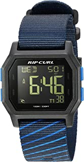 Rip Curl Men's Stainless Steel Quartz Sport Watch with Silicone Strap, Blue, 24 (Model: A3087NAV1SZ)