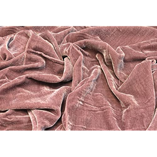 """04af71d20 100% SILK RAYON VELVET SOLID FABRIC 45""""W CLOTHING,DRAPERY,DRESSES 30"""
