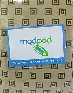 Modpod, Pop Jungle, Geo Tan Fitted Baby Crib Sheet