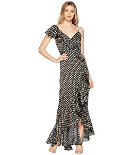 Ruffle Printed Gown