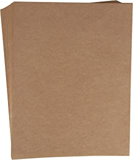 Full Sheet Kraft Brown Labels - 48-Sheet 8.5 x 11 Letter Size Stickers Paper for Package Shipping and Return Label, Decoration, Craft Project
