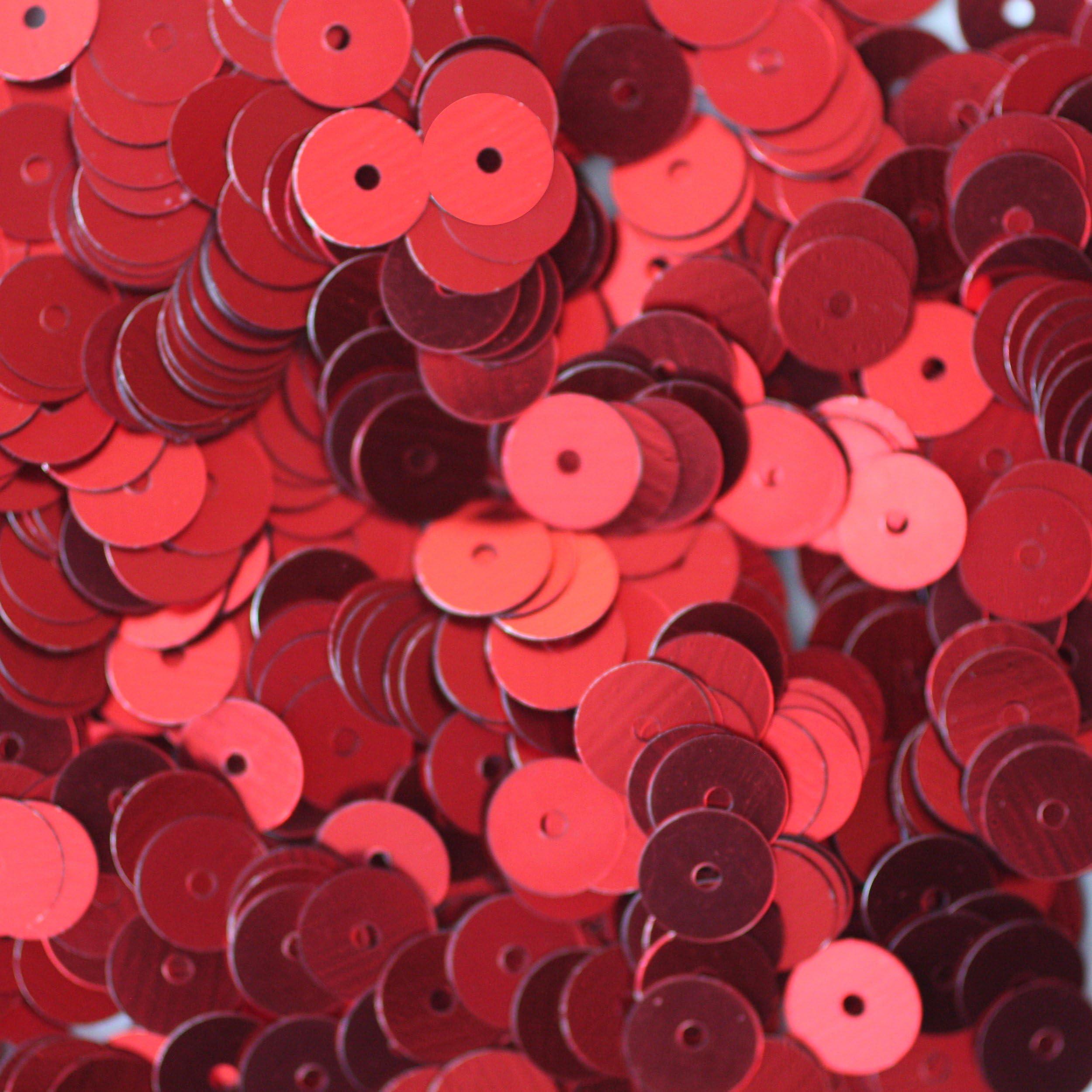 Oriental Salmon color-Sequins-Pailettes-4 mm sequins-Round sequins-Flat Sequins