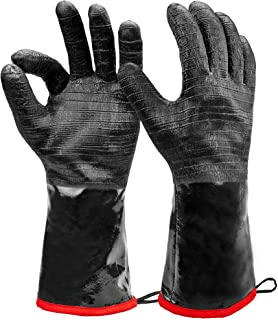 """Heatsistance Heat Resistant BBQ Gloves, 14"""" Long Sleeve, Extra Large Textured Grip to Handle Wet, Greasy or Oily Foods Fir..."""