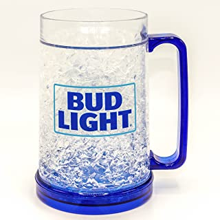 Silver Buffalo ANB2158T Bud Light Stacked Logo Freezer Gel Plastic Mug, 16-oz, Multicolor