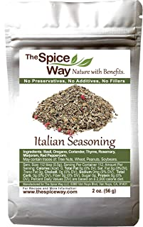 The Spice Way Italian Seasoning - a gourmet spice blend with Italian herbs and spices. Can be used on any Italian dish including pasta, pizza and more 2 oz