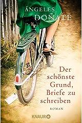 Der schönste Grund, Briefe zu schreiben: Roman (German Edition) Kindle Edition
