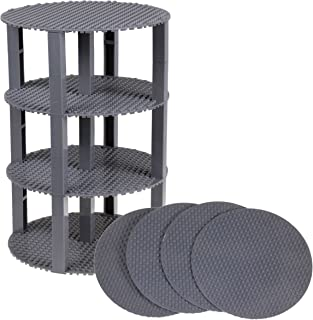 """Strictly Briks Classic Stackable 8"""" Circle Baseplate Brik Tower Building Brick Set 