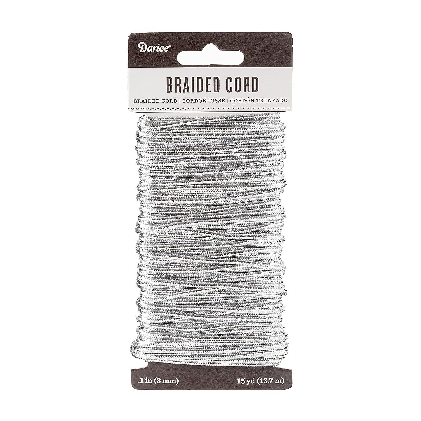 Darice Silver Braided Cording