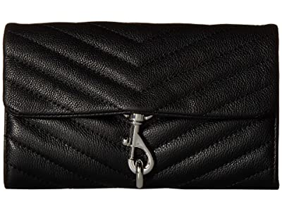 Rebecca Minkoff Edie Wallet On Chain (Black) Handbags