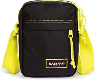 EASTPAK THE ONE Borsa a Tracolla, 21 cm, 2.5 L, Nero (Kontrast Lime)