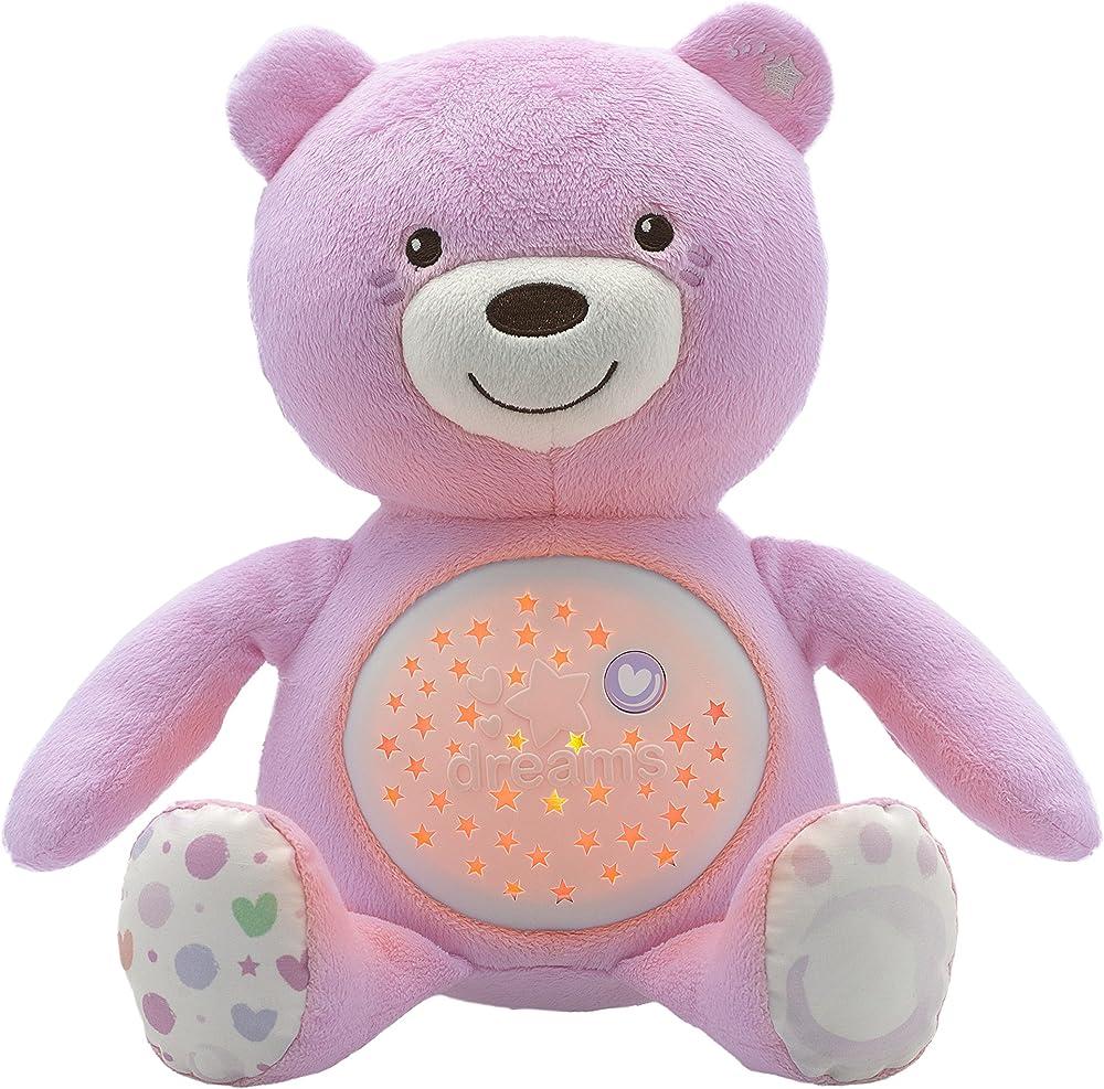 Chicco first dreams orsacchiotto, morbido pupazzo proiettore con spettacolari effetti luminosi e melodie 8015100000