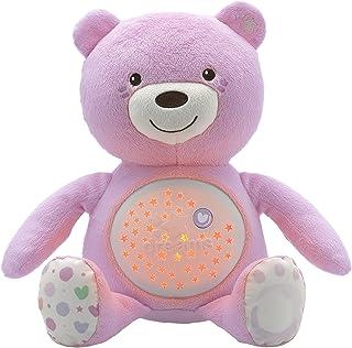 Chicco First Dreams Baby Bear Ours en Peluche Musical, Veilleuse Lumineuse pour Bébés avec Effets Lumineux et Mélodies Rel...