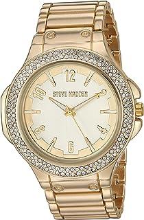 STEVE MADDEN - Reloj de pulsera para mujer con diamantes de imitación (varios colores)