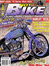 Hot Bike Magazine February 1997 Harley Davidson Wide Glide Motercycle