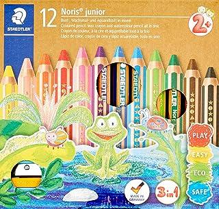 STAEDTLER Noris junior 3-in-1 colouring pencil pack of 12 assorted colours + sharpener