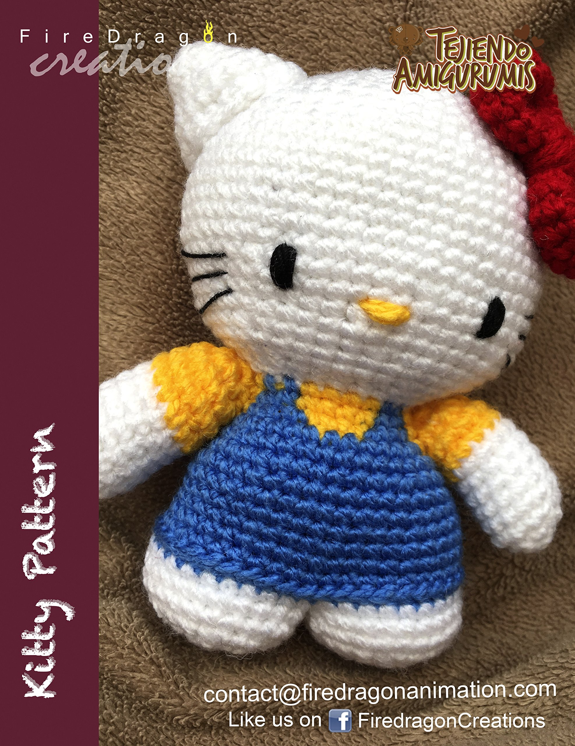 Handmade Amigurumi Crochet Hello Kitty Head Keychain, Design ... | 2560x1974