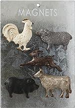 Creative Co-op Tarjeta de Peltre (Juego de 5 Estilos) imanes de Animales, Multicolor, 5 Unidades