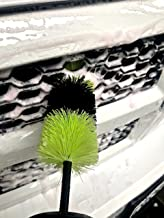 Halo Automotive Premium Detail Cleaning Brush with Black/Lime Green Bristles : 18 inch with 9x3 inch Bristles. for Wheels, Rims, Wheel Well, Engine, Exhaust