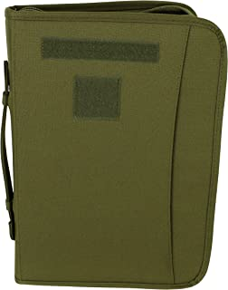 OD Green Zippered 3 Ring Binder And Padfolio (Olive Drab)
