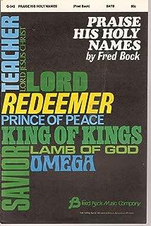 Praise His Holy Names Sheet Music SATB G-343