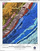 Historic Pictoric Map : Geology of The Irondale 7.5-Minute Quadrangle, Jefferson County, Alabama, 2003 Cartography Wall Art : 24in x 30in