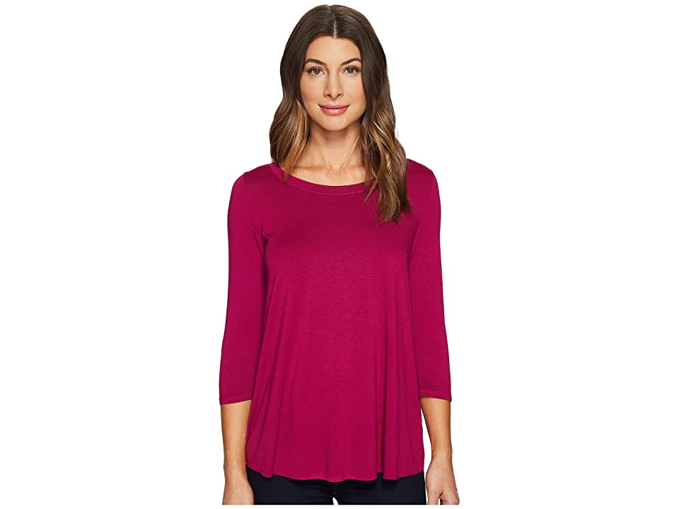Three Dots Split Back Top (Bougainvillea) Women