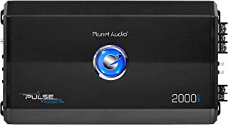 Planet Audio PL2000.1M Monoblock Car Amplifier - 2000 Watts, 2/4 Ohm Stable, Class A/B, Mosfet Power Supply, Great for Subwoofers