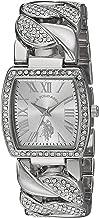 U.S. Polo Assn. Women's Analog-Quartz Watch with Alloy Strap, Silver, 22 (Model: USC40201AZ)