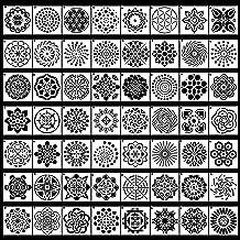 Mandala Dot Painting Stencils Template Reusable Crafts Tile Stencils for DIY Clothes Door Table Wall Art Scrapbook Stone Rock Painting Elephant Dailing Mandala Stencil Art