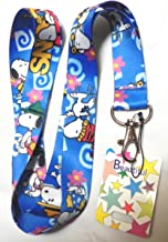 1 X Blue Anime Snoopy Lanyard Keychain Holder, Mp3, Phone....
