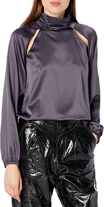 KENDALL + KYLIE Women's Ruching Balloon Blouse