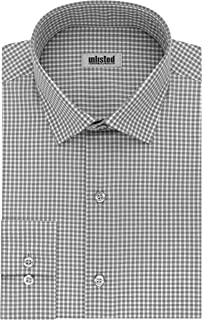 Kenneth Cole Reaction Unlisted Men's Slim Fit Check Spread Collar Dress Shirt