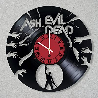 Ash vs Evil Dead Vinyl Record Wall Clock Ash vs Evil Dead Movie Zombie Bruce Campbell