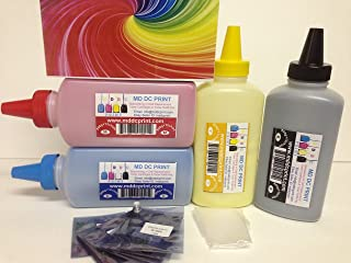 800g + 8-Resetting Chips Refill Kit for Dell Laser Printers. Models: 1250C, 1350CNW, 1355CN, 1355CNW, C1760NW, C1765NF, C1765NFW