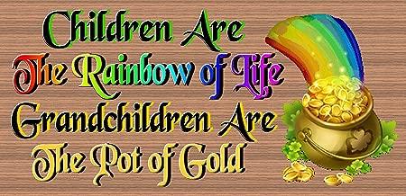 GiggleSticks Children are The Rainbow of Life Grandchildren are The Pot of Gold