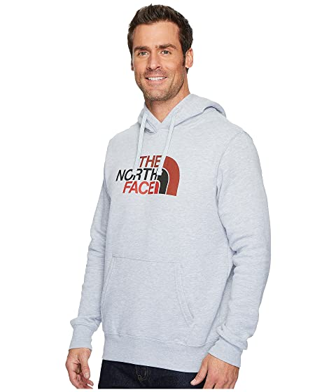 The North Face Half Dome Pullover Hoodie TNF Light Grey Heather/Bossa Nova Red Multi Classic Sale Online lphpOVXe0